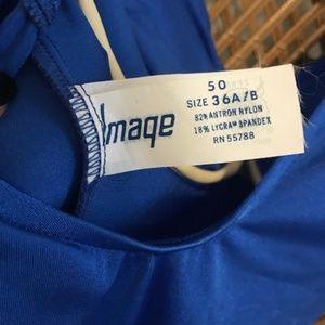 Vintage Swim - Vintage 90's Vibrant Blue One Piece Bathing Suit